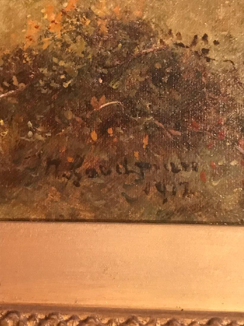 Antique English Oil On Canvas Painting. - 4