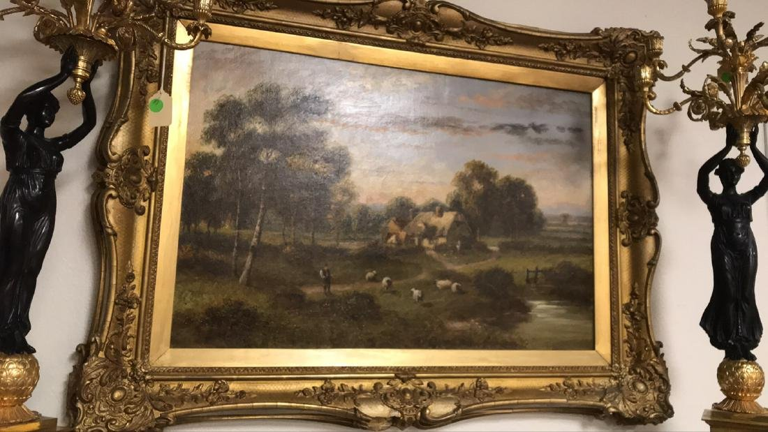 Antique English Oil On Canvas Painting. - 5