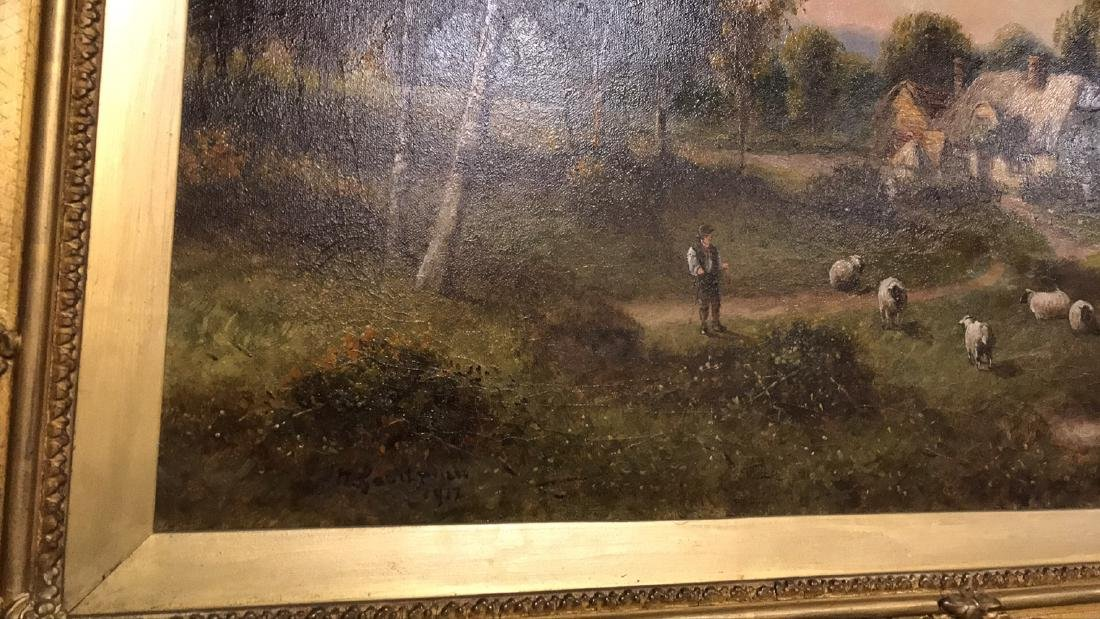 Antique English Oil On Canvas Painting. - 7