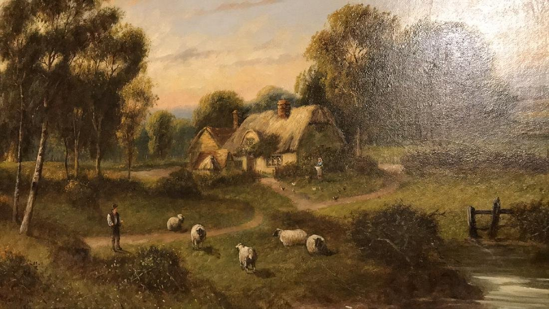 Antique English Oil On Canvas Painting. - 9