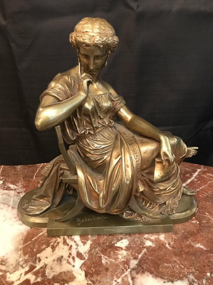 German Bronze Sculpture By Bobendieck.