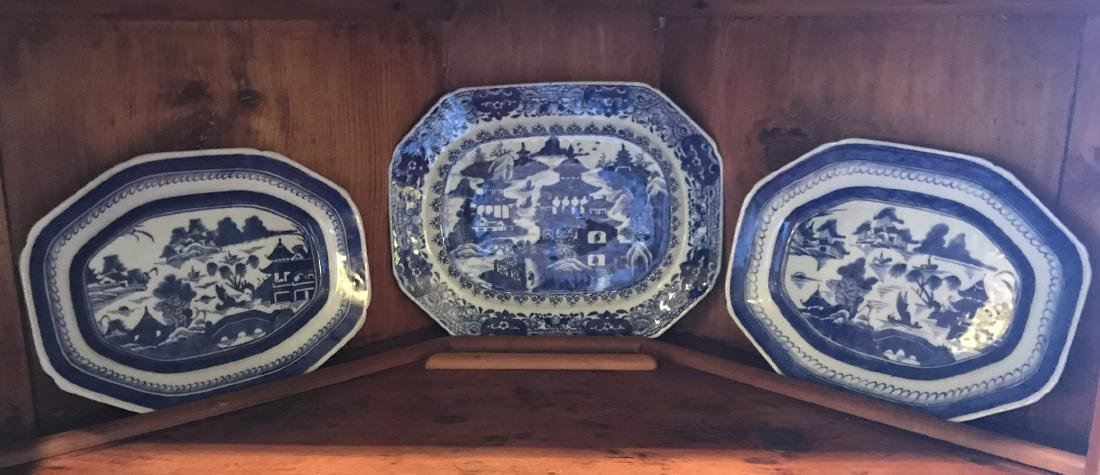 3 Early Chinese Export Platters.