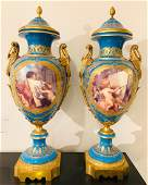 Pair Of Antique French Sevres Vases,