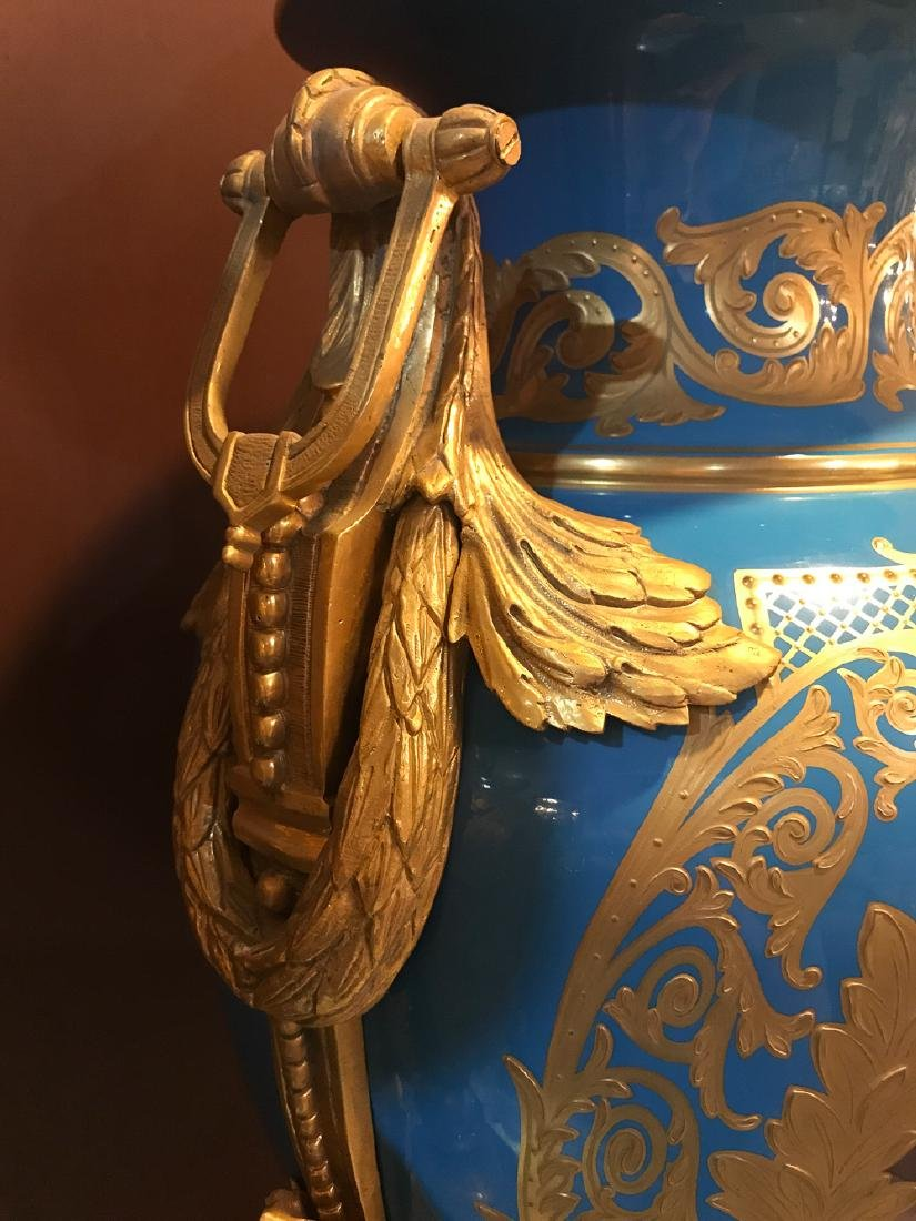Pair Of Antique French Sevres Vases, - 6
