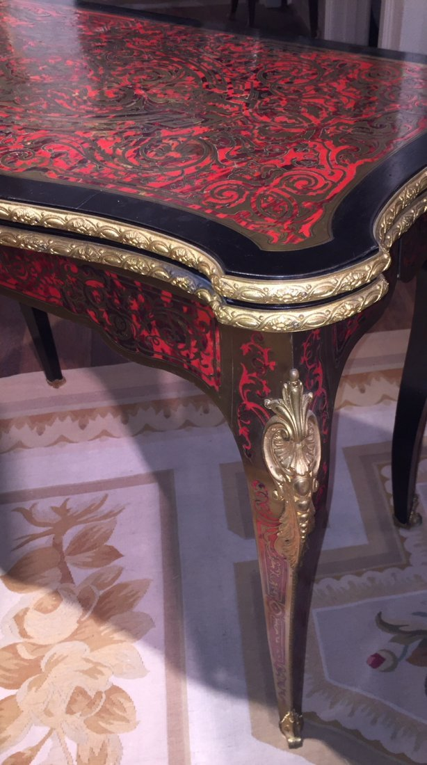 Antique French Boulle Gaming Table. - 3