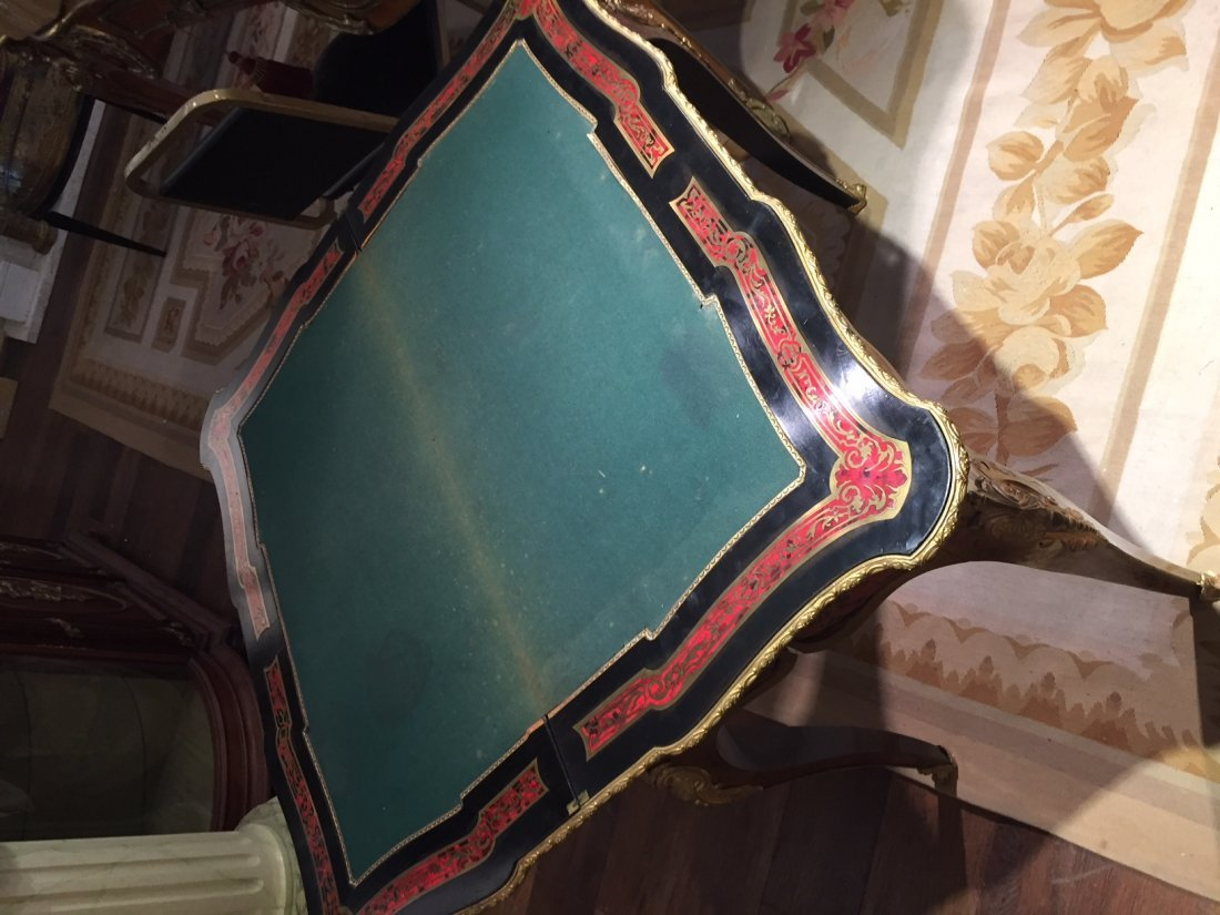 Antique French Boulle Gaming Table. - 4