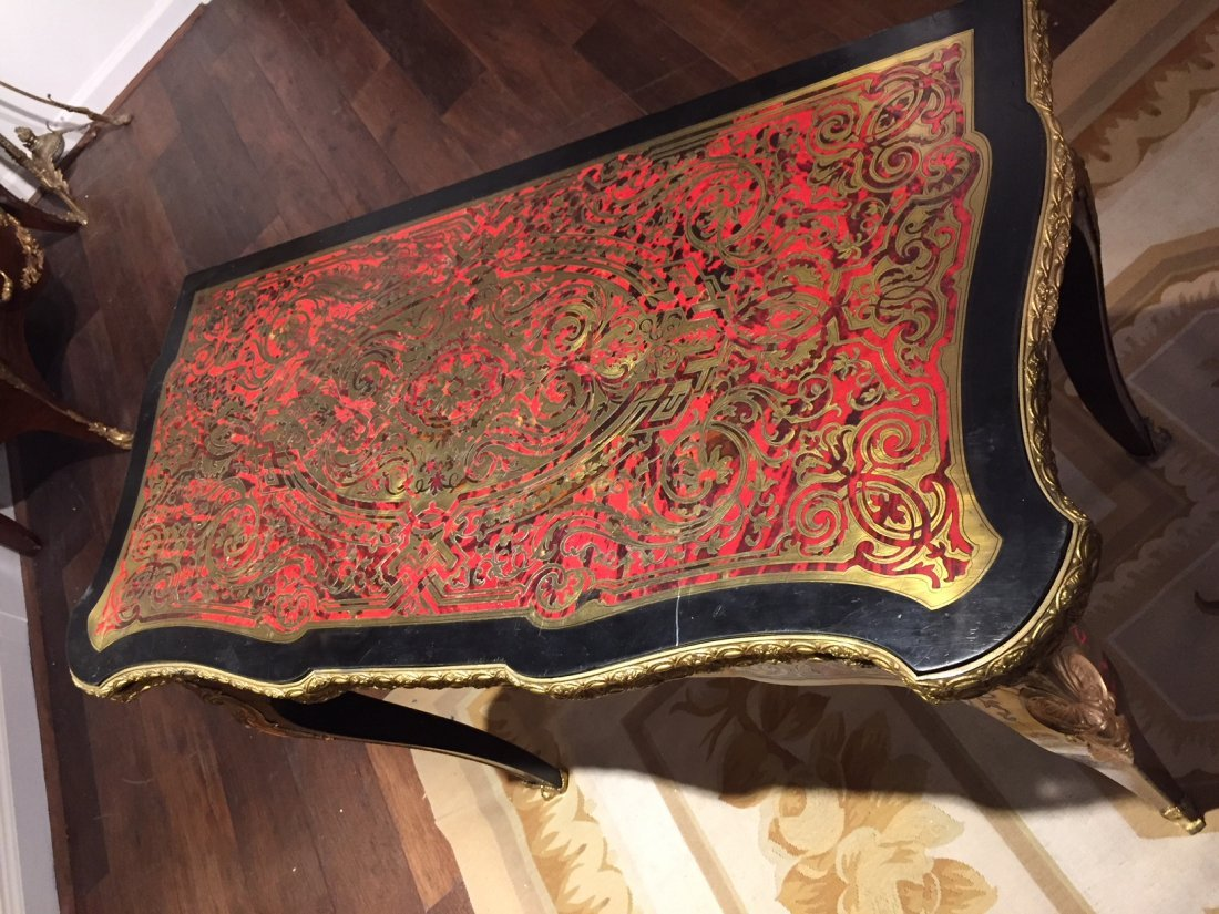 Antique French Boulle Gaming Table. - 5