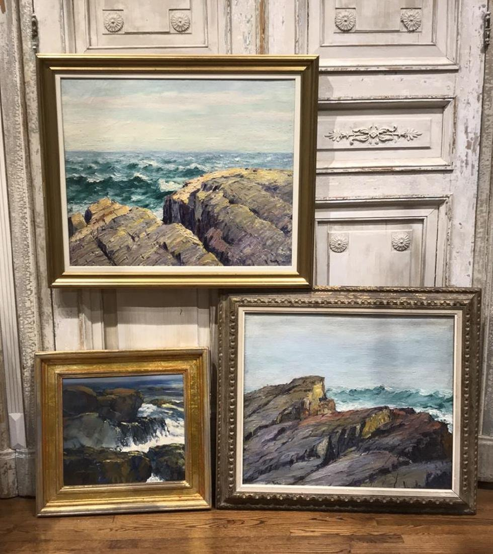 Grouping Of 3 Cliff Scene Paintings
