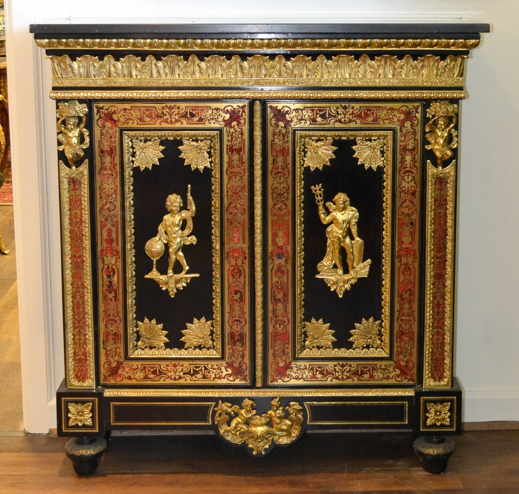Antique French Boulle Credenza.
