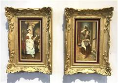 Pair Of 19th C. Signed Oil On Panel Paintings