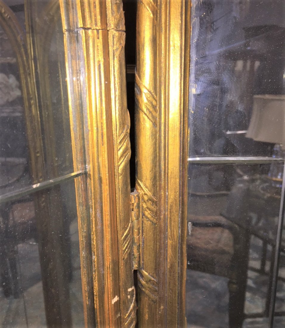 French Mirrored Dressing Screen. - 2