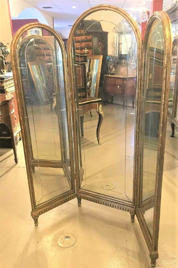 French Mirrored Dressing Screen. - 3