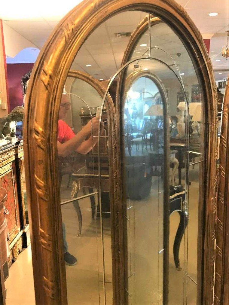 French Mirrored Dressing Screen. - 4