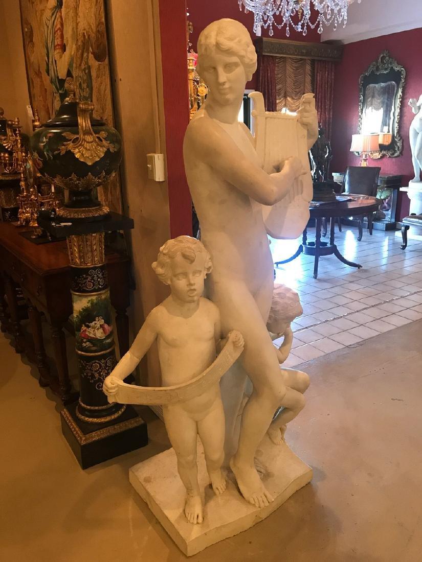 Important Marble Sculpture, Signed A. Weinert. - 6