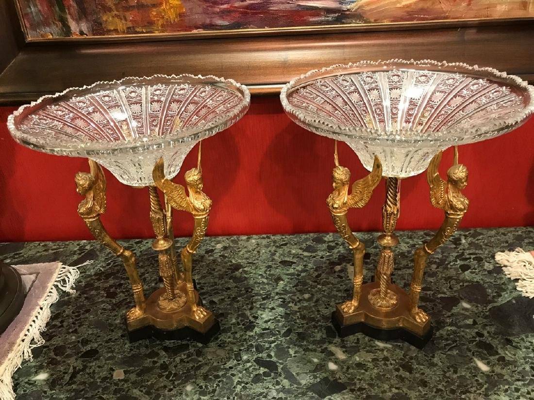 19th Century Pair Of French Centerpieces.