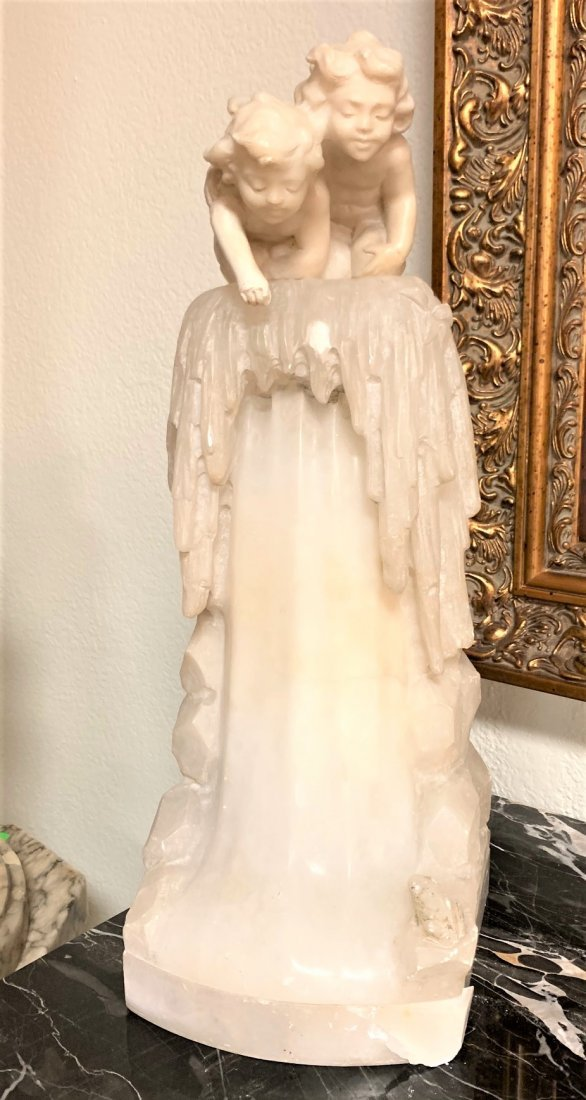 French Onyx Lamp, Circa 1920.