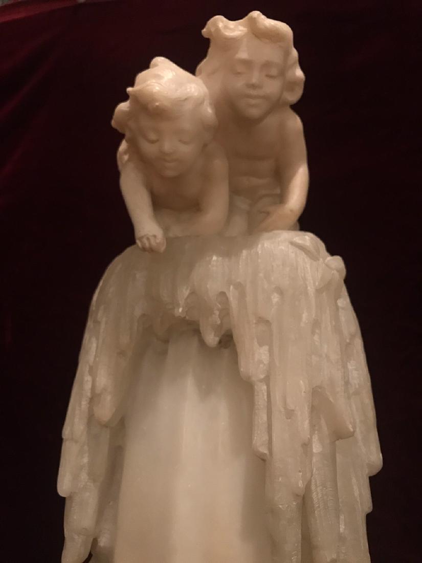 French Onyx Lamp, Circa 1920. - 2