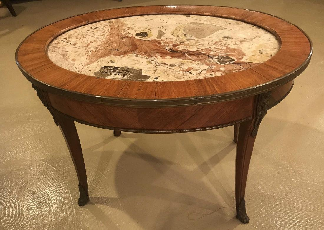 Antique French Kingwood Cocktail Table.