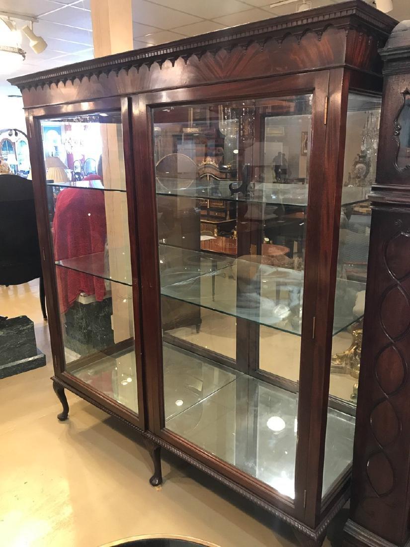English Mahogany Display Cabinet.