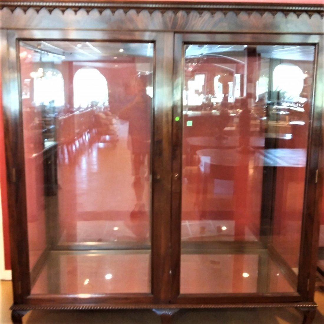 English Mahogany Display Cabinet. - 2