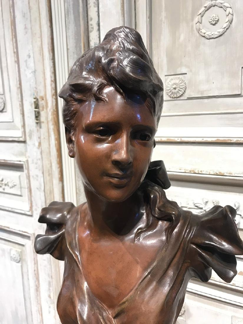 Antique French Bronze Bust By Charles Coudray - 2