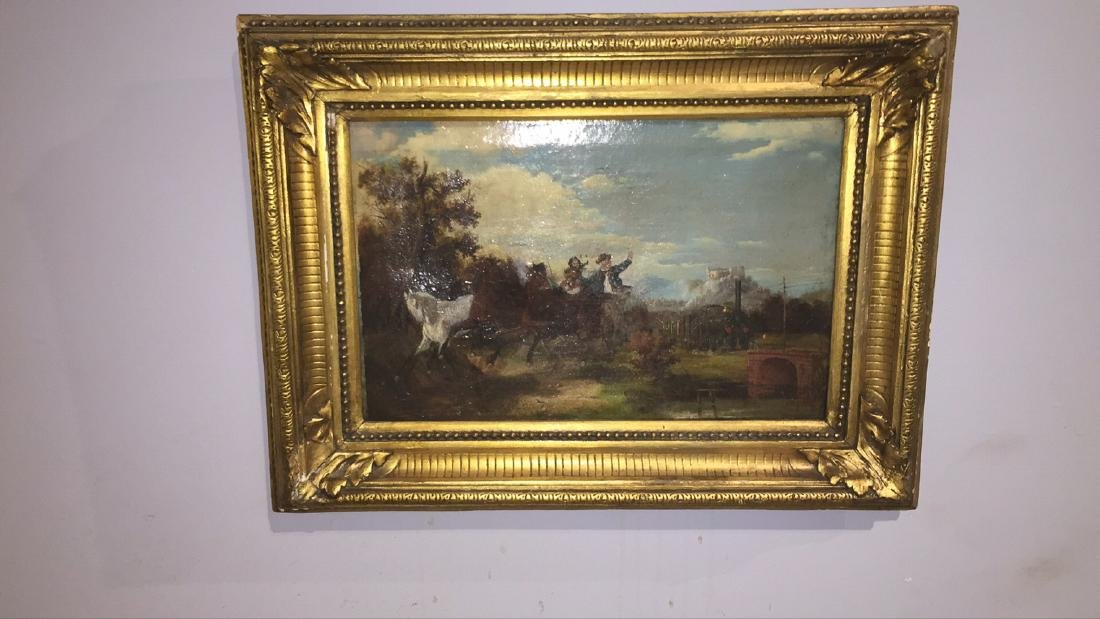 Small English Oil On Canvas Painting - 2