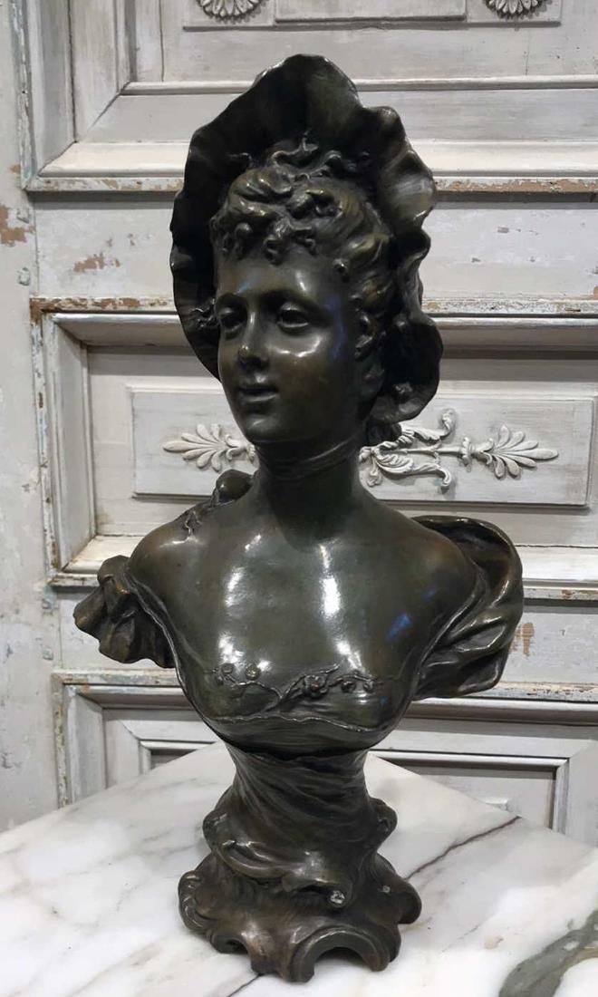 Antique Flemish Bronze Bust