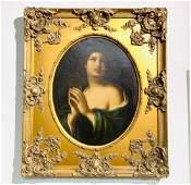 19th Century Religious Oil Painting.