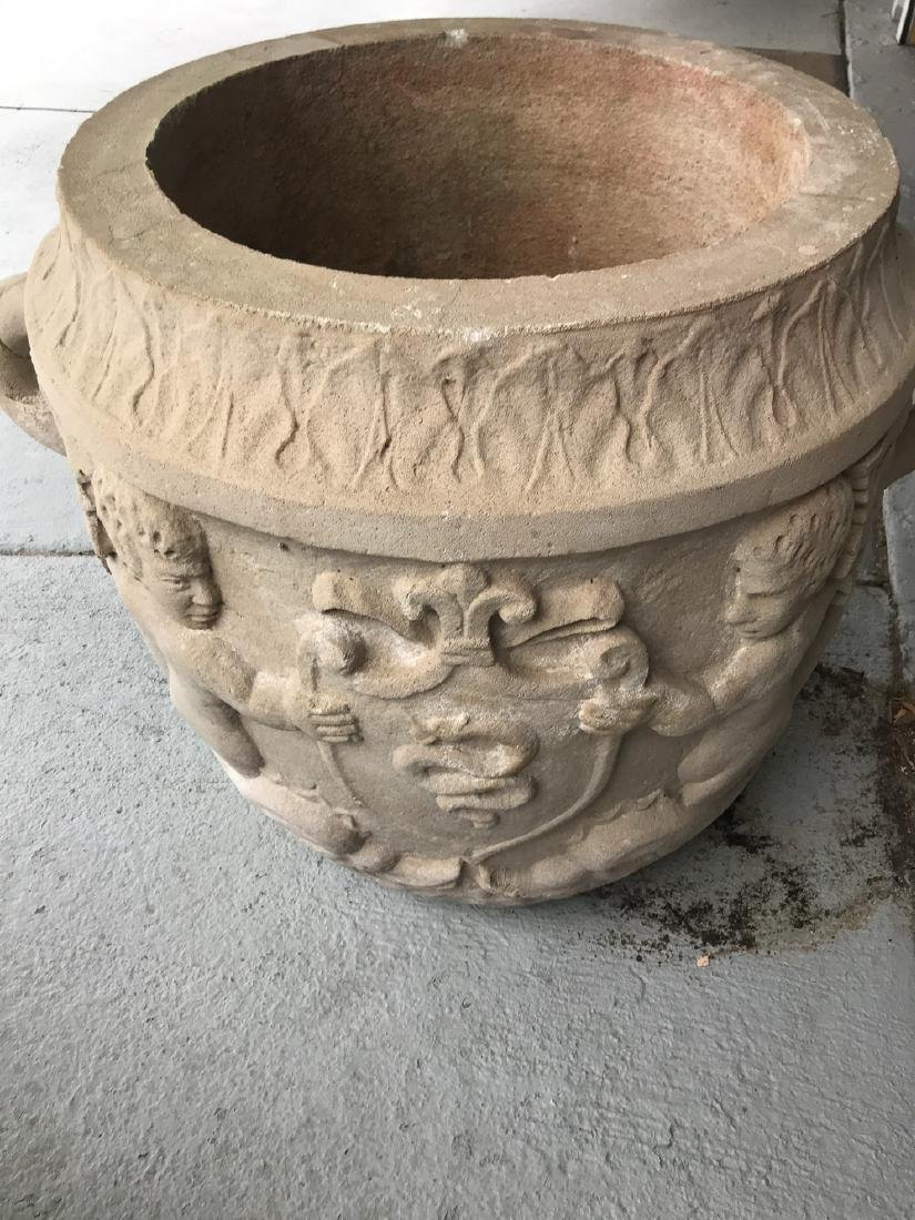 Large Pair Of Sandstone Planters. - 4