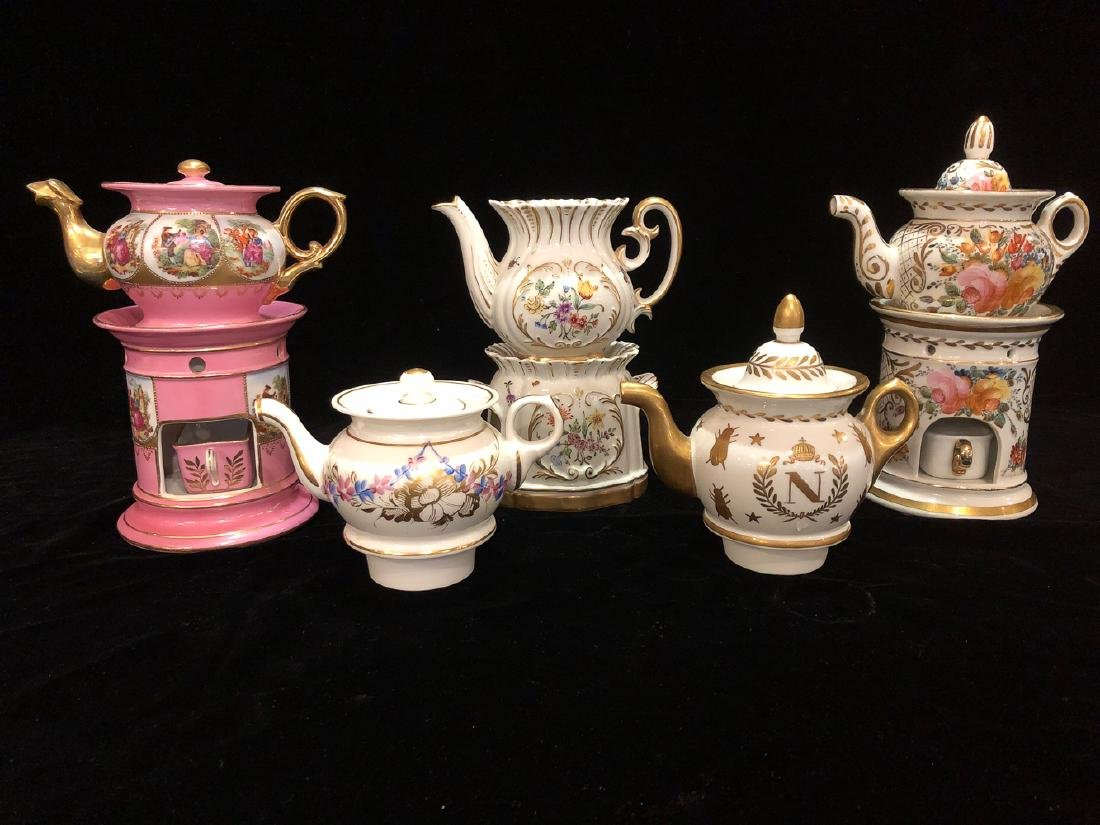 Collection Of Antique Chocolate Pots.
