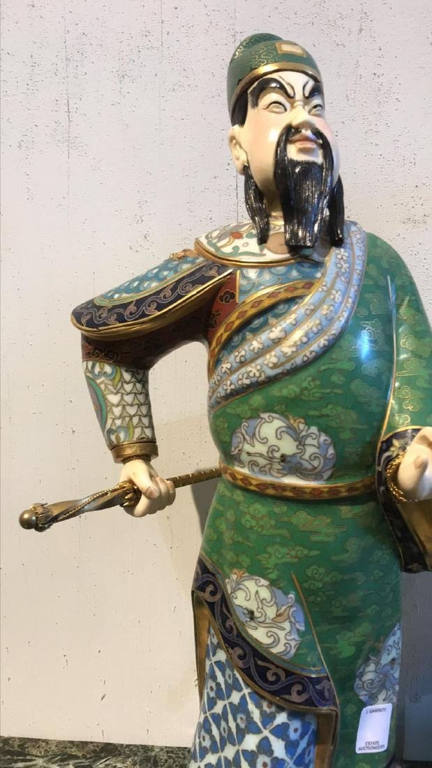 Pair Of Chinese Cloisonne Figures - 10
