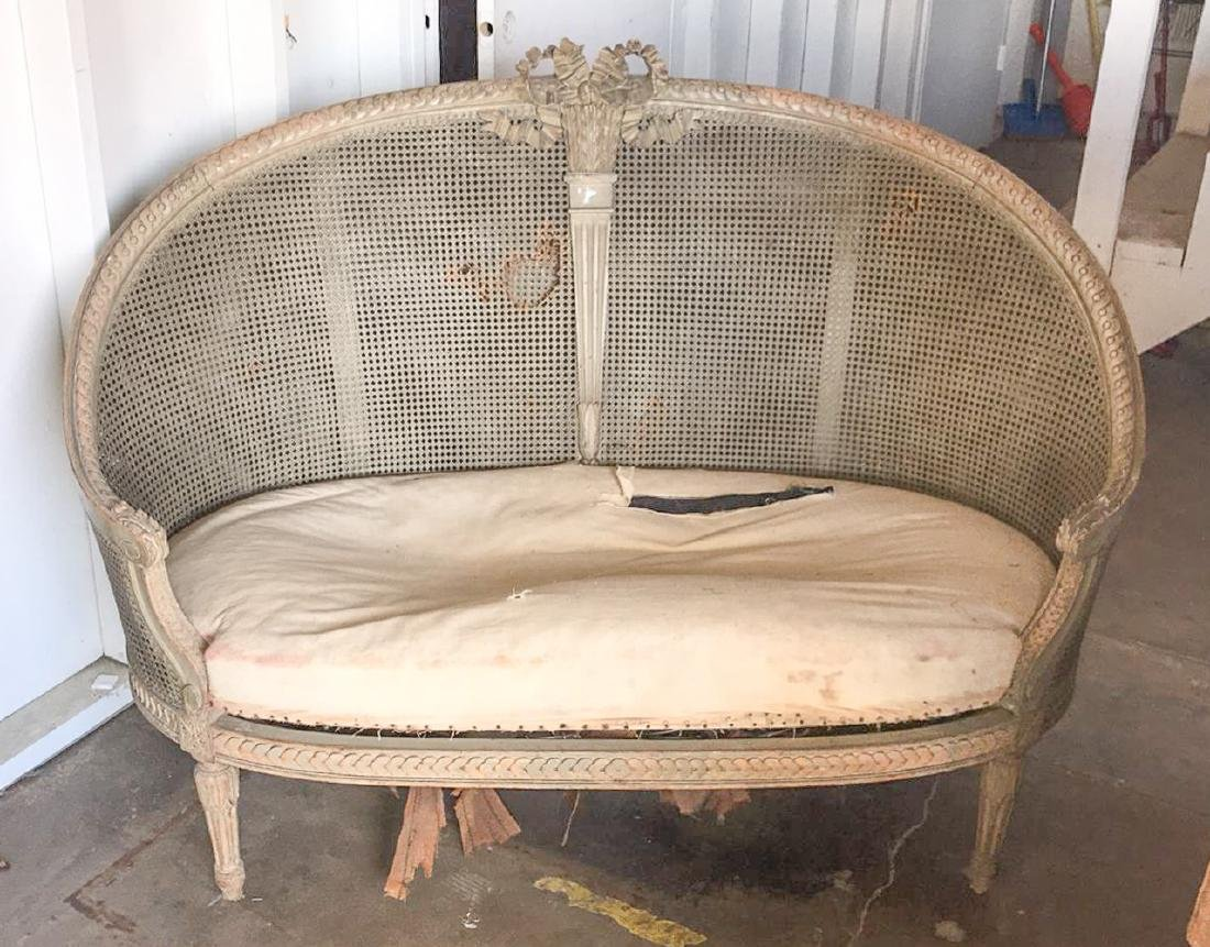 French Louis Xvi Style Settee - 5