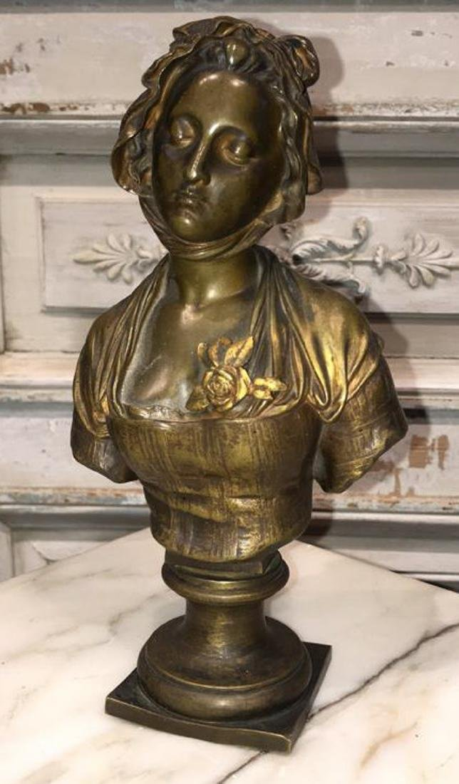 Antique French Bronze Bust