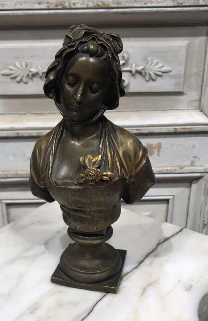Antique French Bronze Bust - 3
