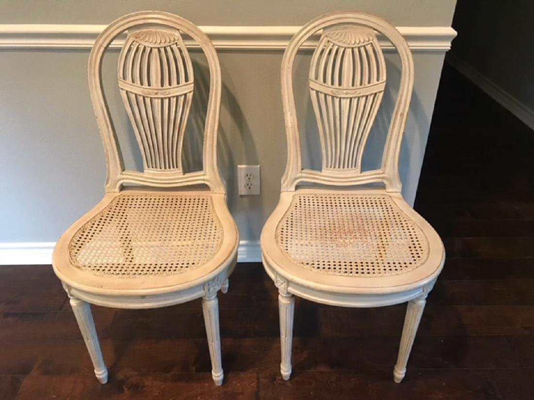 Pair Of Raquette Louis XVI style Chairs
