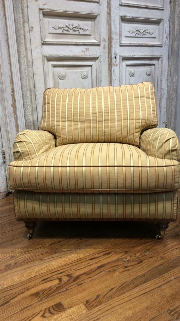 Upholstered Chair And Ottoman - 3