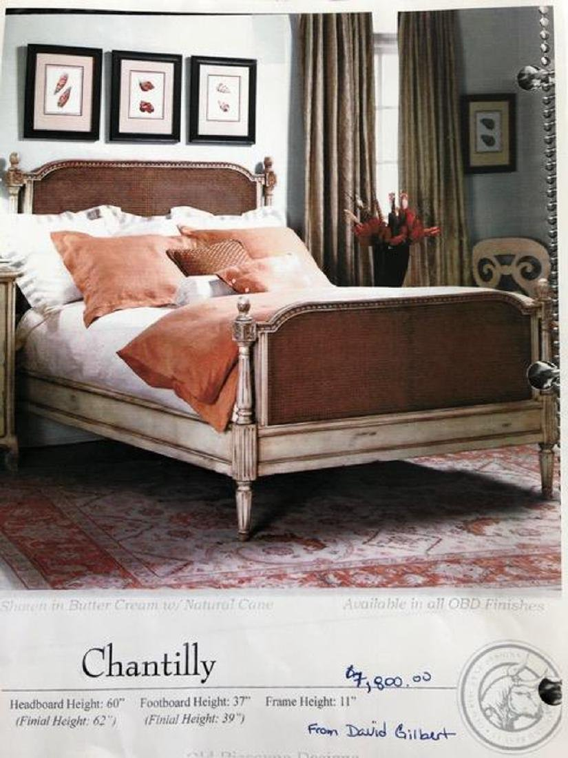 King Bed With Cane And Silver Gilding - 5