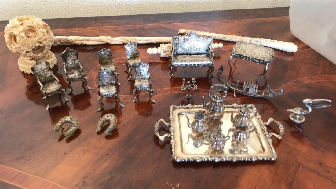 Lot Of 19th C Dollhouse Sterling