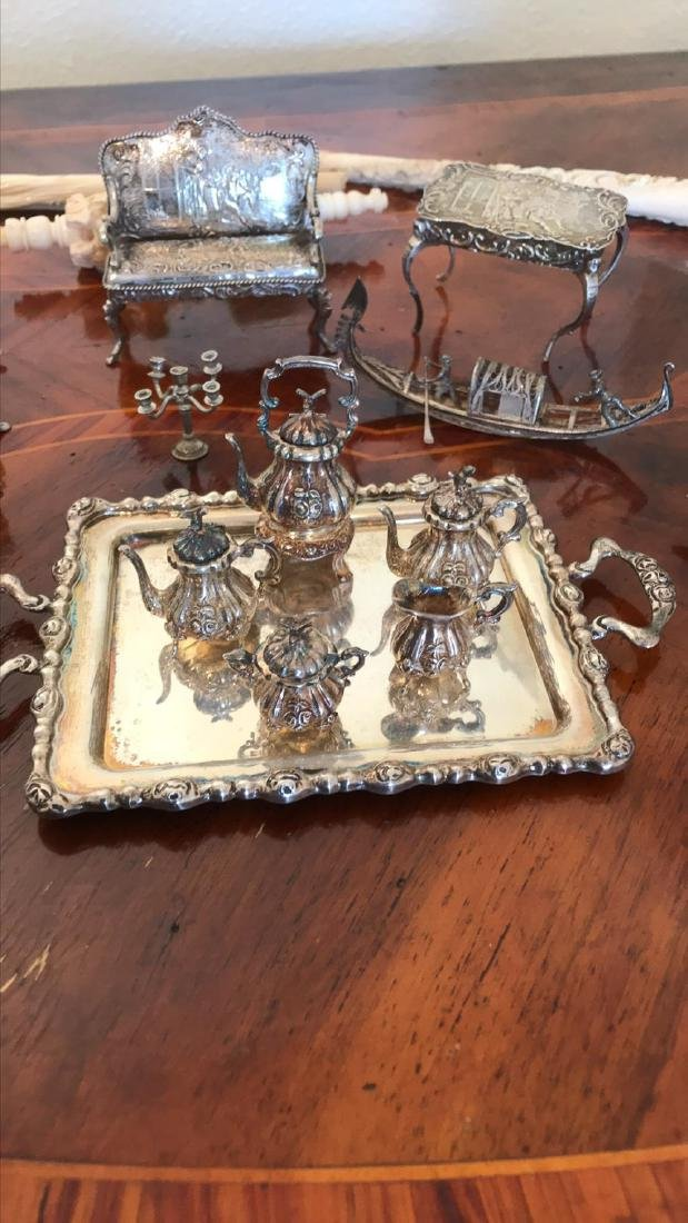 Lot Of 19th C Dollhouse Sterling - 2