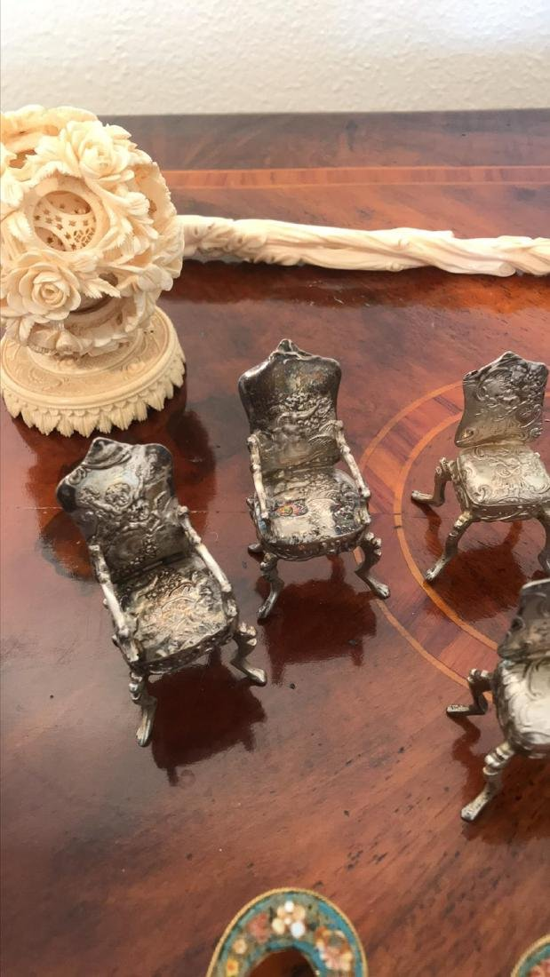 Lot Of 19th C Dollhouse Sterling - 3