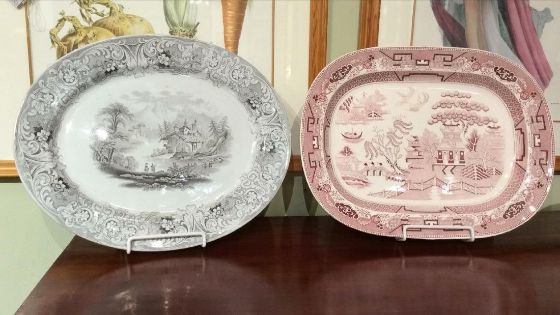 2 Transferware Platters