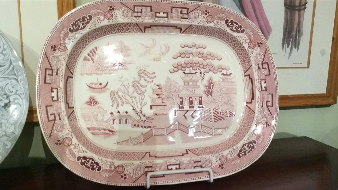 2 Transferware Platters - 3