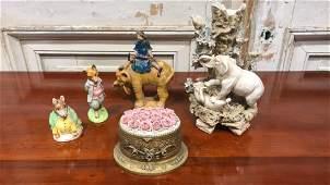 5 Pieces Porcelain