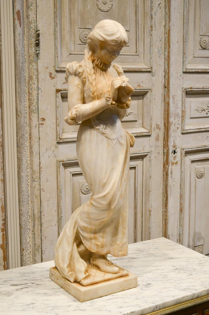 19th C. French Marble Statue.