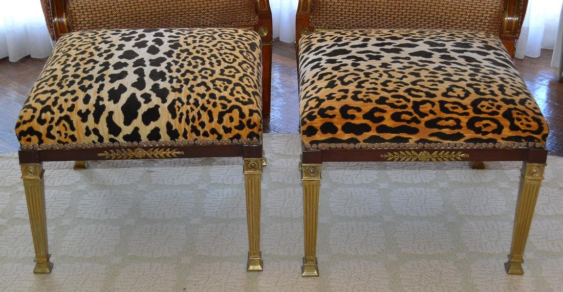 Pair Of French Empire Stools.