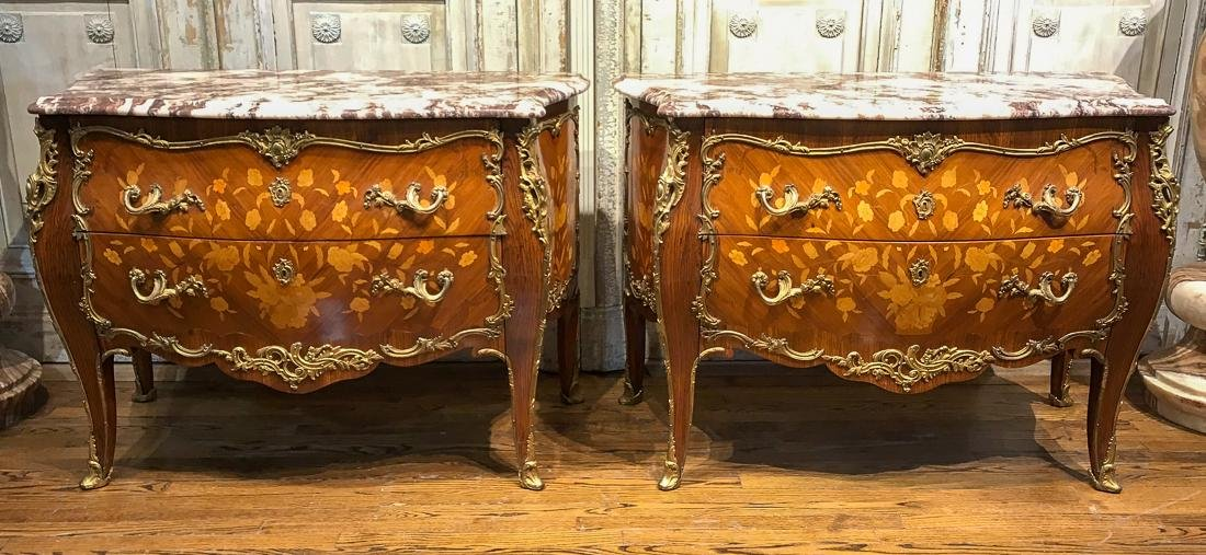 Pair Of Louis XV Style Commodes.