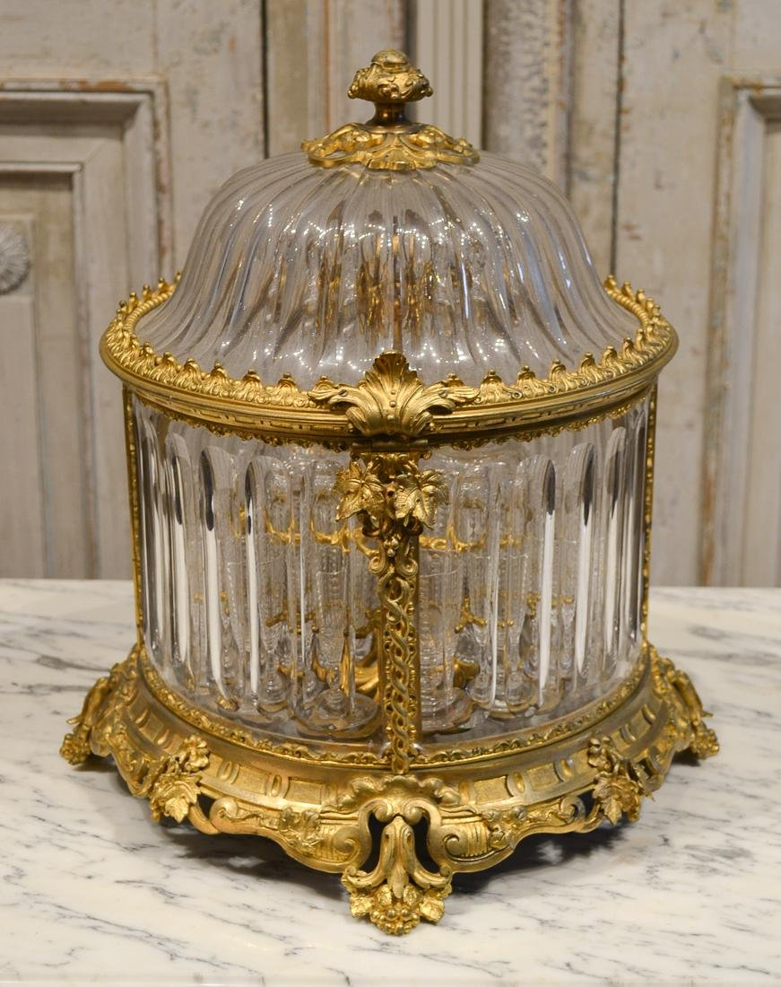 19th Century French Baccarat Crystal Tantalus.