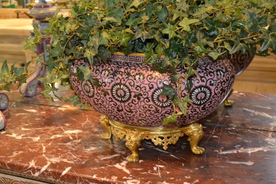 Chinese Cloisonne Planter.