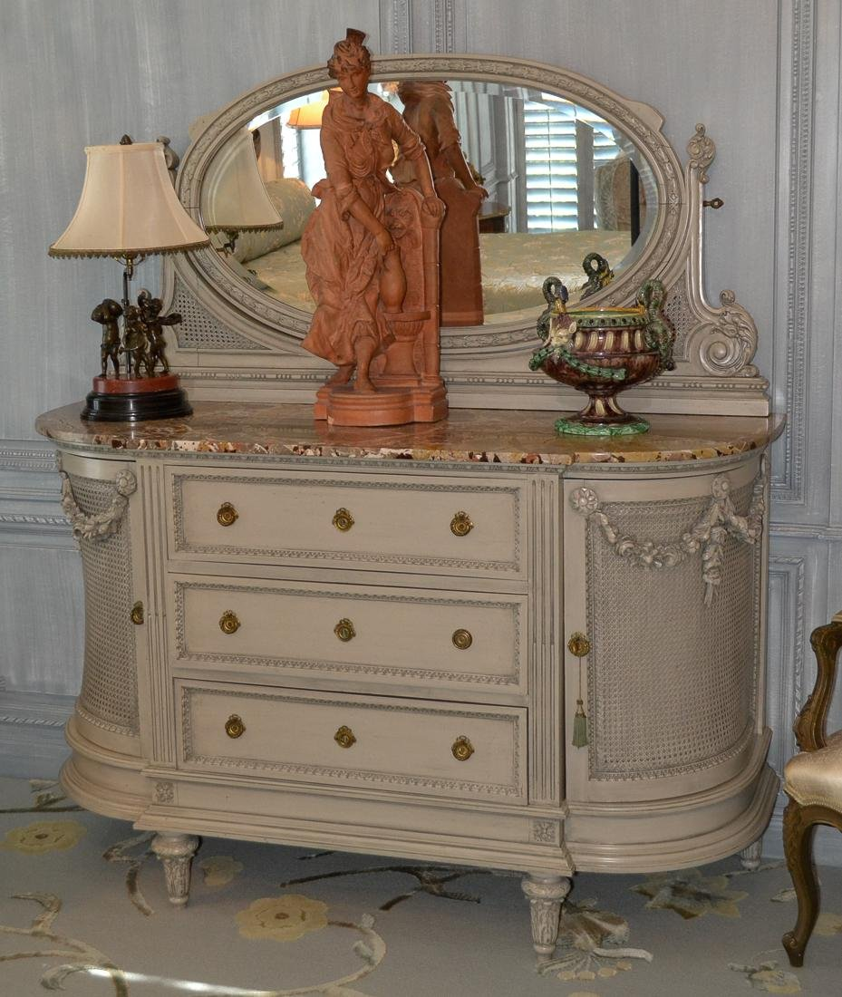 Antique French Painted Buffet.