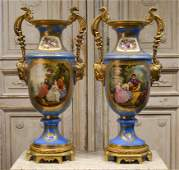 Pair, French Sevres Style Vases